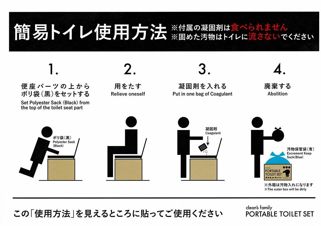簡易トイレ使用方法